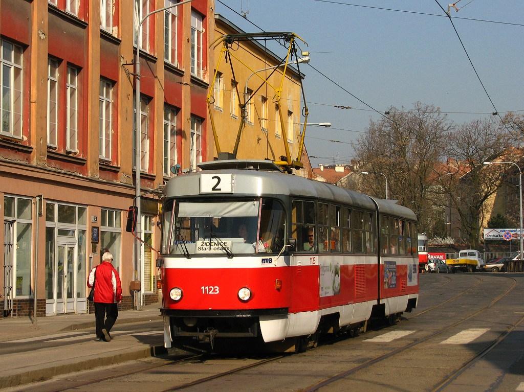 Fotogalerie » ČKD Tatra K2MM 1123 | Brno | Zábrdovice | Zábrdovická
