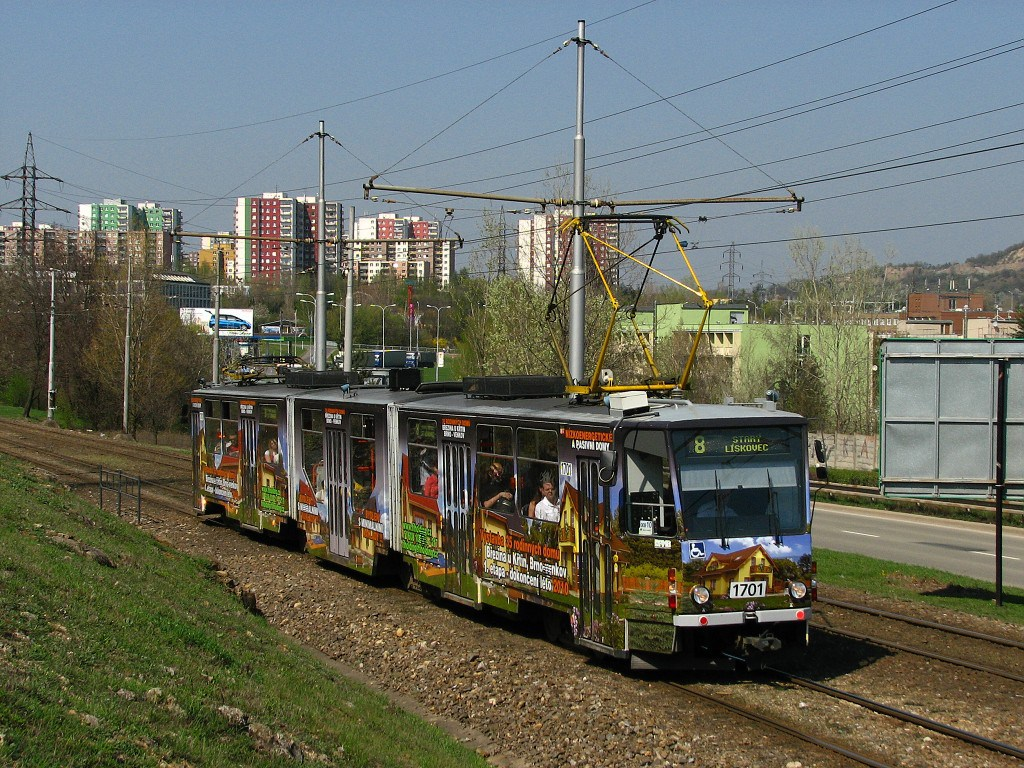 Fotogalerie » ČKD Tatra KT8D5R.N2 1701 | Brno | Juliánov