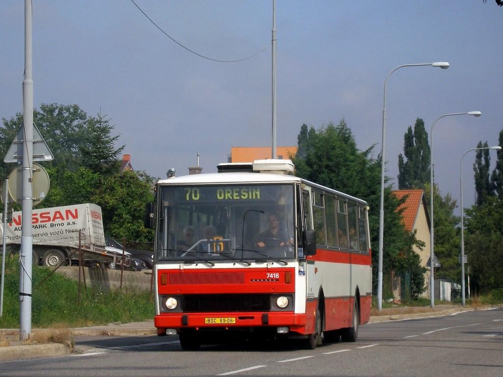 Fotogalerie » Karosa B731.1669 7418 | Brno | Královo Pole | Budovcova