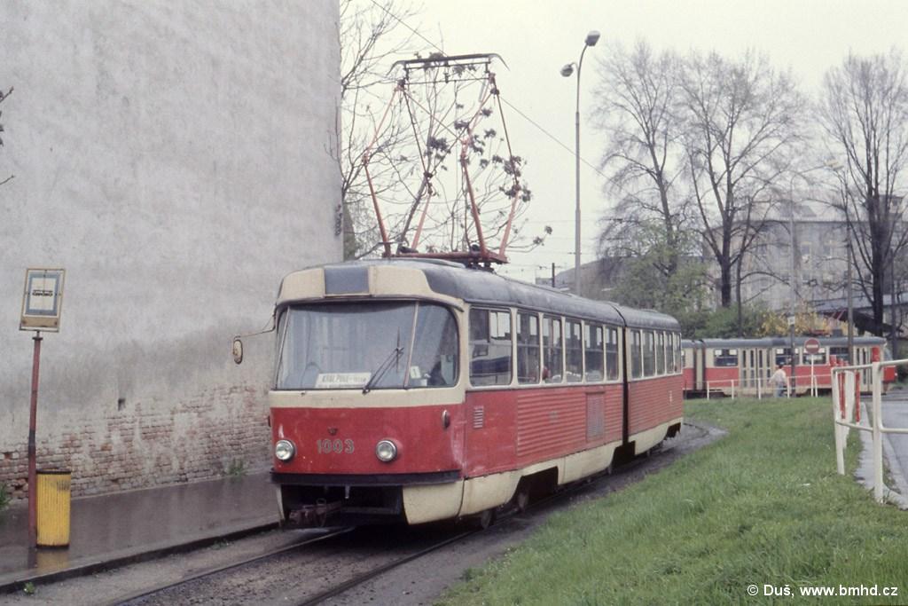 Fotogalerie » K2 1003   Brno   Trnitá   Dornych   Zvonařka, smyčka