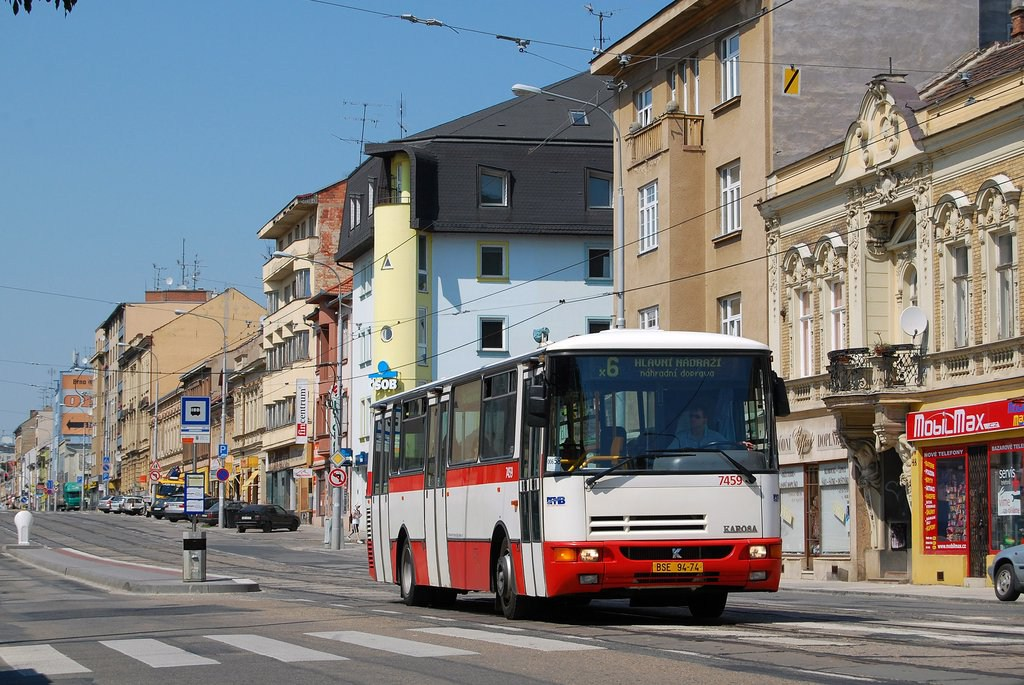 Fotogalerie » Karosa B931E.1707 7459 | Brno | Královo Pole | Palackého třída | Jungmannova