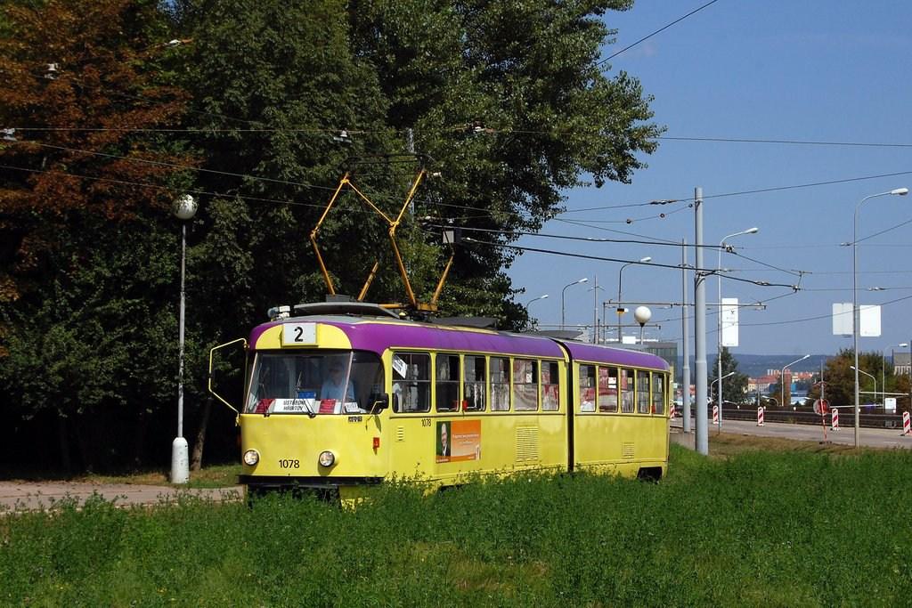 Fotogalerie » ČKD Tatra K2 1078 | Brno | Horní Heršpice | Ústřední hřbitov, smyčka