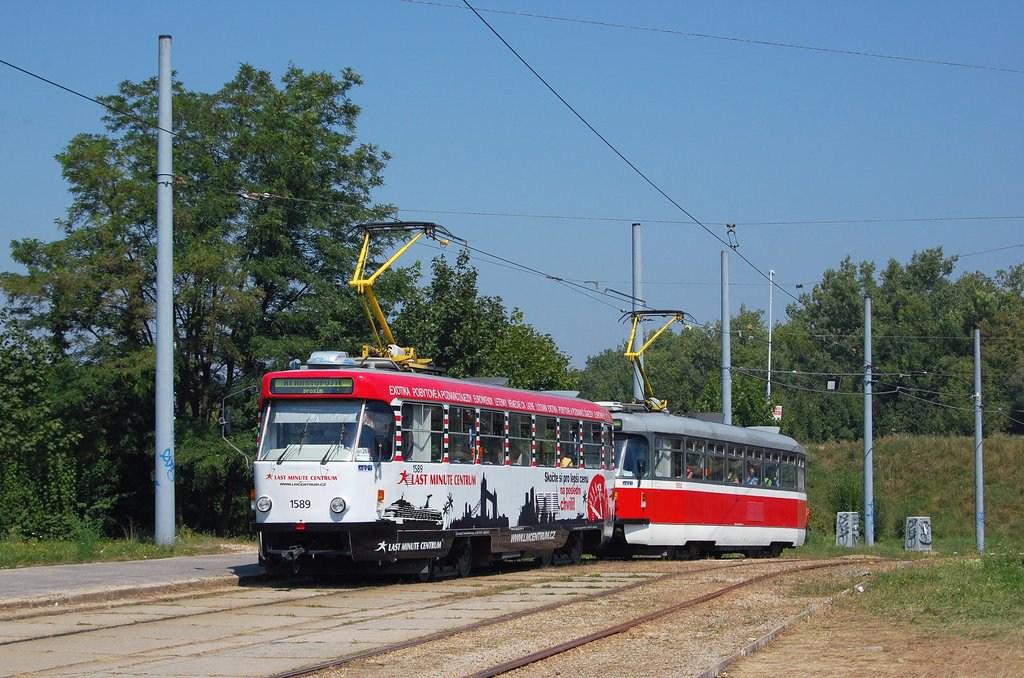 Fotogalerie » ČKD Tatra T3P 1589 | Pragoimex T3R.PV 1558 | Brno | Bystrc | Rakovecká, smyčka