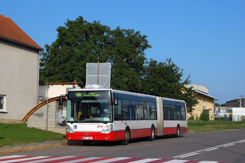 Fotogalerie » Irisbus Citelis 18M 2614   Popůvky   Jihlavská   Popůvky, Vintrovna