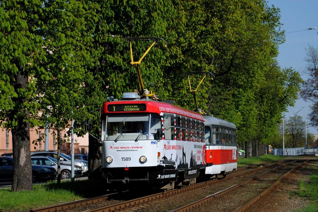 Fotogalerie » ČKD Tatra T3P 1589 | Pragoimex T3R.PV 1558 | Brno | Pisárky | Hlinky