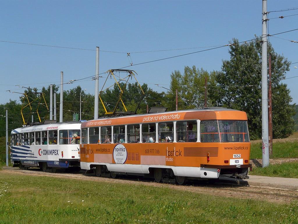 Fotogalerie » ČKD Tatra T3G 1651 | ČKD Tatra T3G 1652 | Brno | Bystrc | Rakovecká