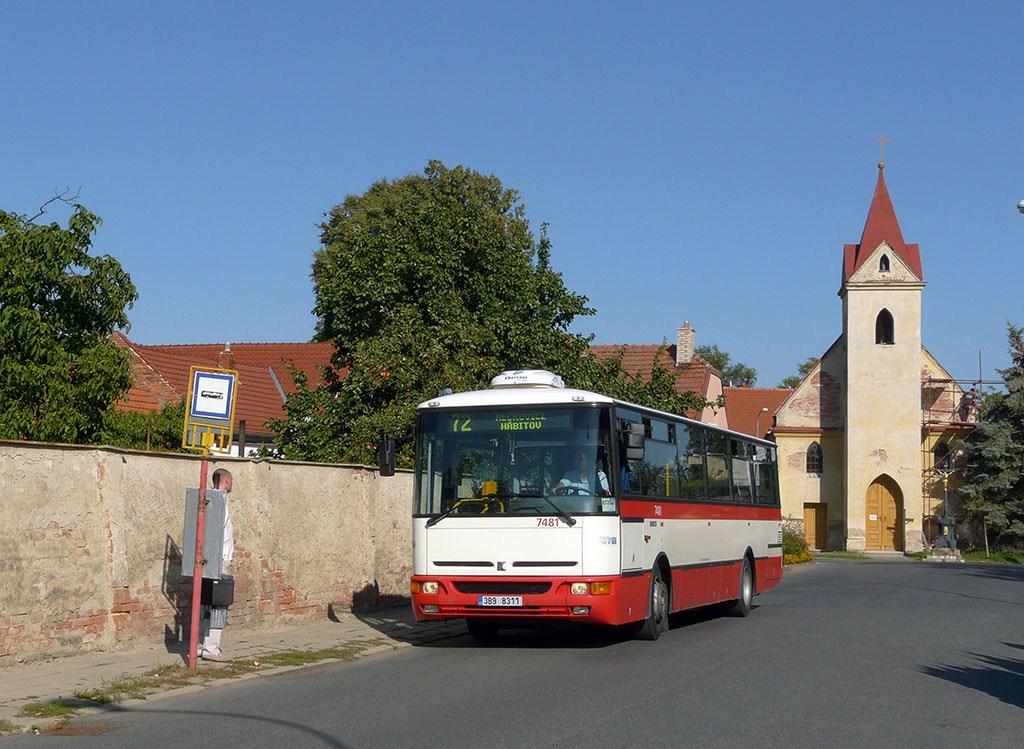 Fotogalerie » Karosa B951E.1713 7481 | Brno | Přízřenice | Staré náměstí | Přízřenice, smyčka