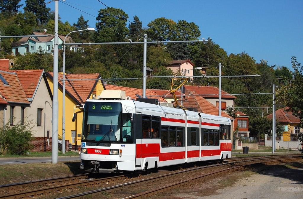 Fotogalerie » ČKD DS RT6N1 1803 | Brno | Komín | Kníničská