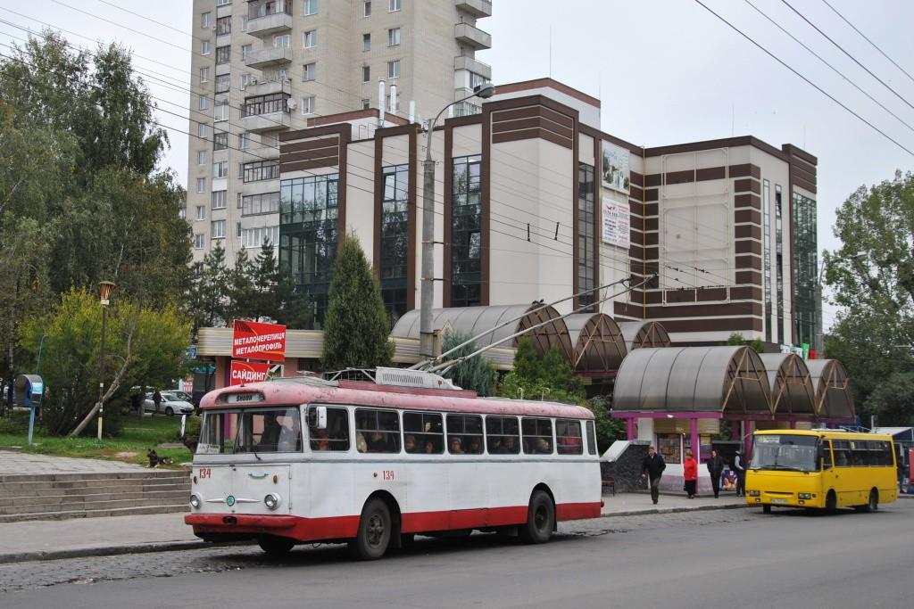Fotogalerie » Škoda 9TrHT28 134   Rovno   Kyivska   Avtovokzal