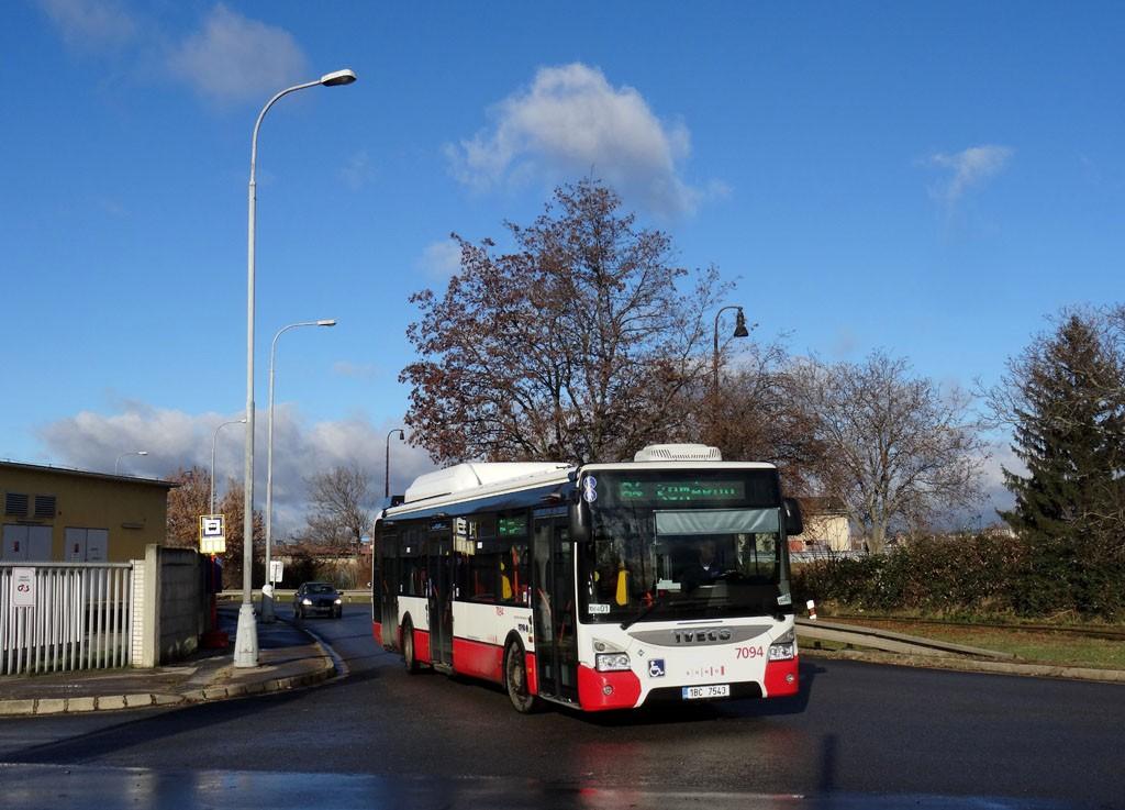 Fotogalerie » Iveco Urbanway 12M CNG 1BC 7543 7094   Brno   Brno-Černovice   Černovické nábřeží