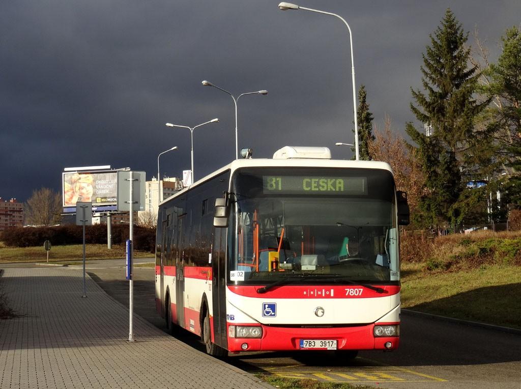 Fotogalerie » Irisbus Crossway LE 12M 7B3 3917 7807 | Brno | Štefánikova čtvrť | Kohoutova | Štefánikova čtvrť, smyčka