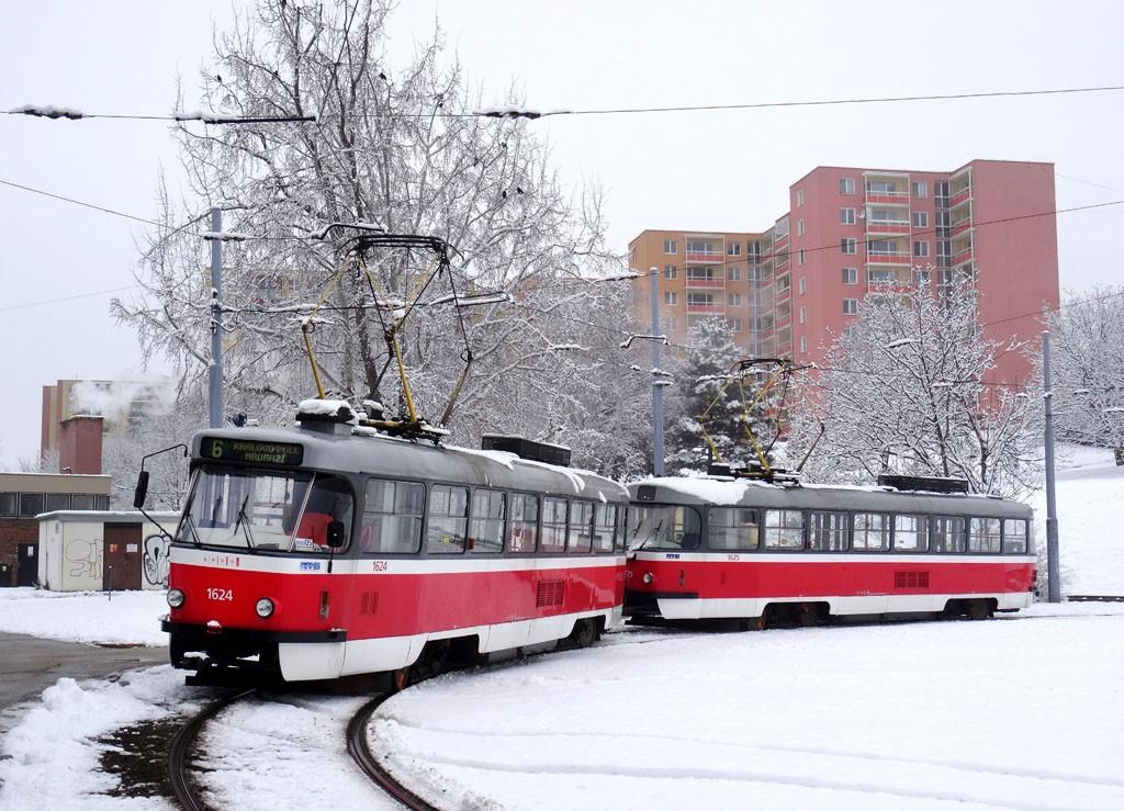 Fotogalerie » ČKD Tatra T3G 1624 | ČKD Tatra T3G 1625 | Brno | Bohunice | Švermova, smyčka