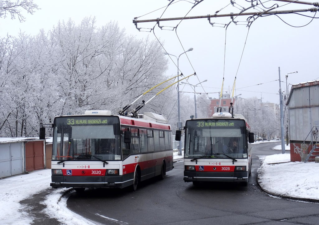 Fotogalerie » Škoda 21Tr 3020 | Škoda 21Tr 3028 | Brno | Slatina | Mikulčická | Slatina, sídliště