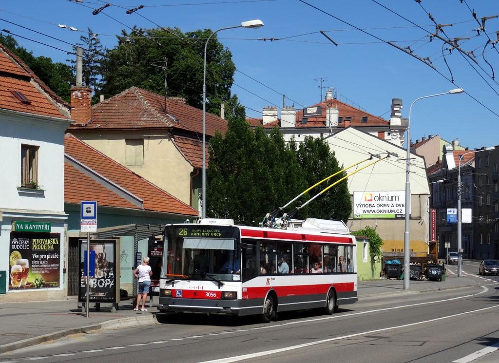 Fotogalerie » Škoda 21Tr 3056 | Brno | Pisárky | Hlinky | Výstaviště, hlavní vstup