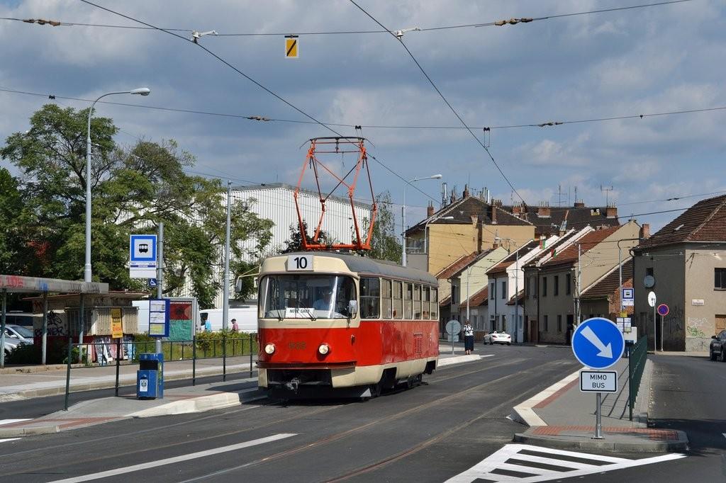 Fotogalerie » ČKD Tatra T3 1525 | Brno | Židenice | Životského | Životského
