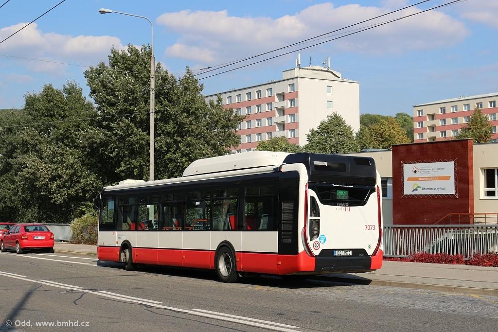 Fotogalerie » Iveco Urbanway 12M CNG 1BC 1579 7073 | Brno | Komín | Veslařská | Vozovna Komín