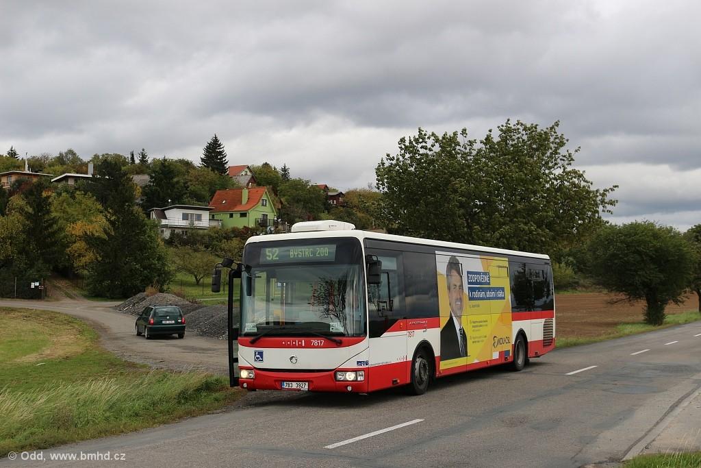 Fotogalerie » Irisbus Crossway LE 12M 7B3 3927 7817 | Brno | Žebětín | Dlážděná | Kopce