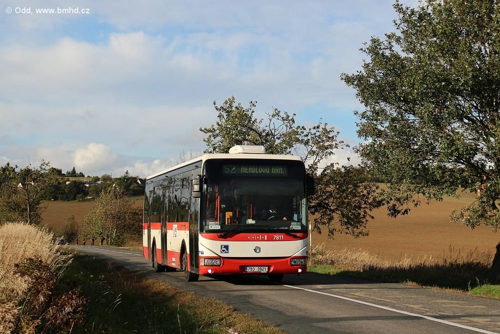 Fotogalerie » Irisbus Crossway LE 12M 7B3 3921 7811 | Brno | Žebětín | Dlážděná