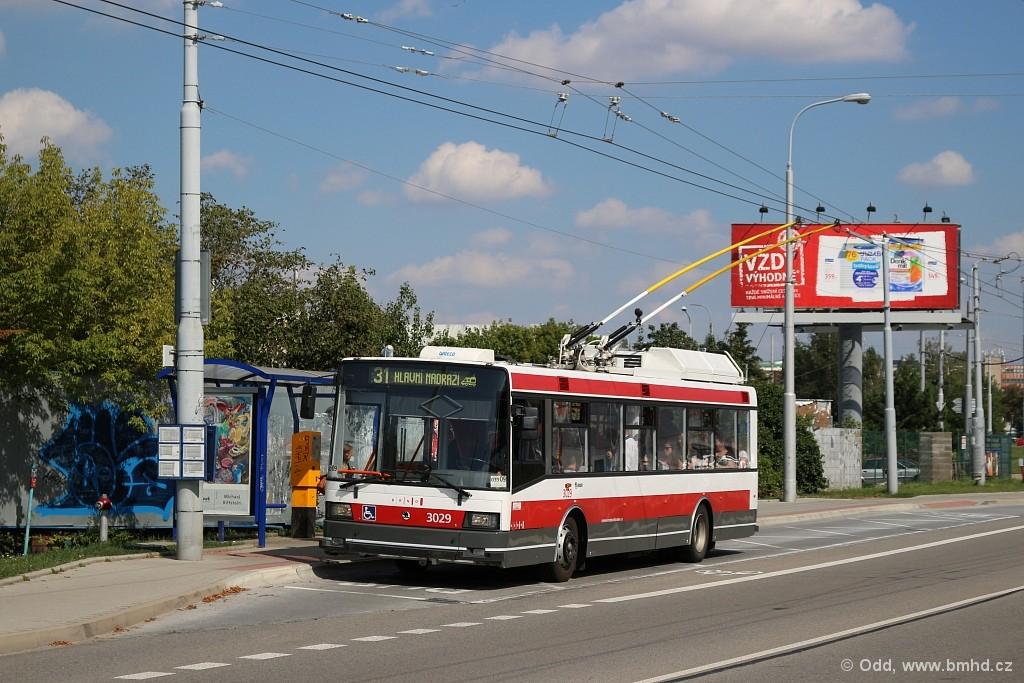 Fotogalerie » Škoda 21Tr 3029 | Brno | Slatina | Olomoucká | Černovičky
