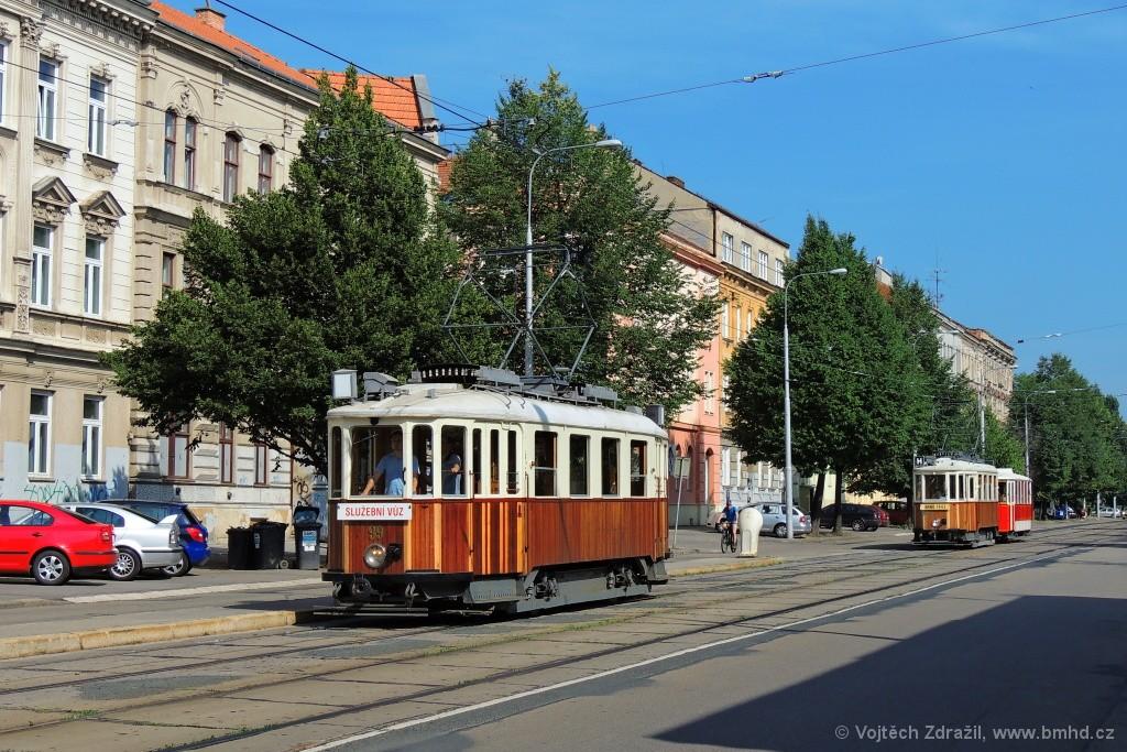 Fotogalerie » KPS Brno + SBEPD mv6.2 99 | KPS Brno mv6.3 107 | Ringhoffer vv2.ringh 215 | Brno | Ponava | Štefánikova