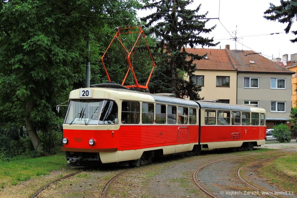 Fotogalerie » ČKD Tatra K2YU 1123   Brno   Královo Pole   Purkyňova   Červinkova, smyčka
