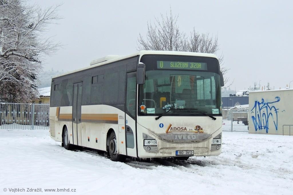 Fotogalerie » Iveco Crossway PRO 12M 1BD 3913 | Brno | Pisárky | Bauerova