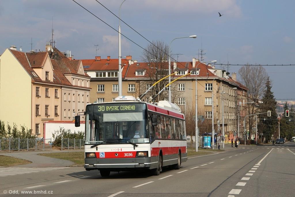 Fotogalerie » Škoda 21Tr 3036 | Brno | Žabovřesky | Královopolská
