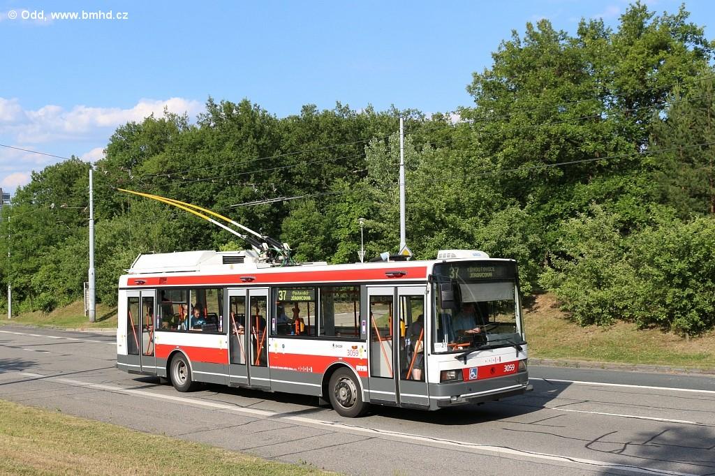 Fotogalerie » Škoda 21Tr 3059 | Brno | Kohoutovice | Libušina třída