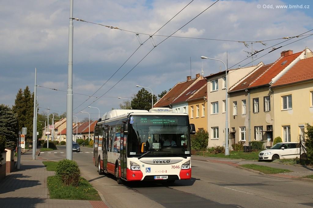 Fotogalerie » Iveco Urbanway 12M CNG 1BB 6890 7046 | Brno | Slatina | Tuřanka