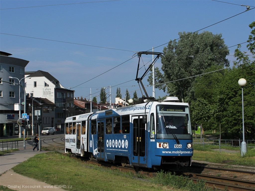 Fotogalerie » ČKD Tatra K2R 1066 | Brno | Židenice | Bubeníčkova