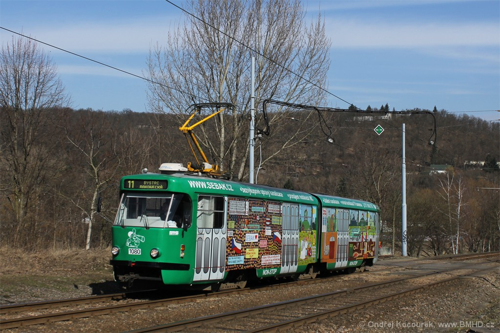 Fotogalerie » ČKD Tatra K2P 1080 | Brno | Bystrc | Obvodová