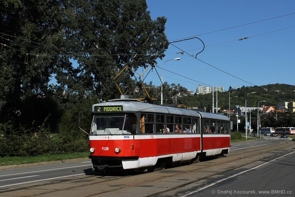 Fotogalerie » ČKD Tatra K2 1128 | Brno | Židenice | Bubeníčkova