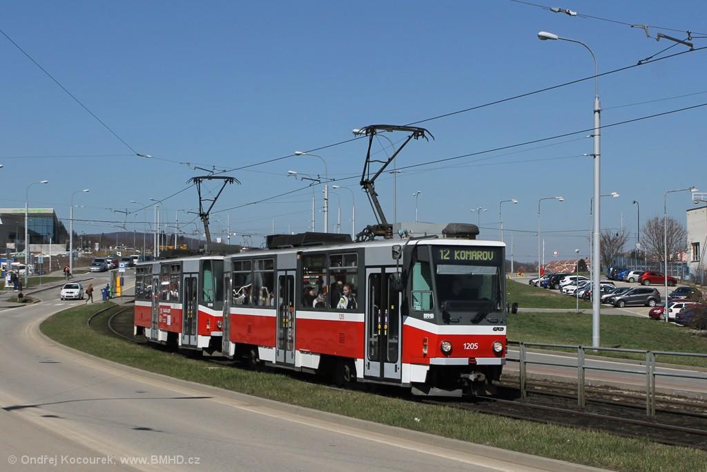Fotogalerie » ČKD DS T6A5 1205 | ČKD DS T6A5 1206 | Brno | Královo Pole | Purkyňova