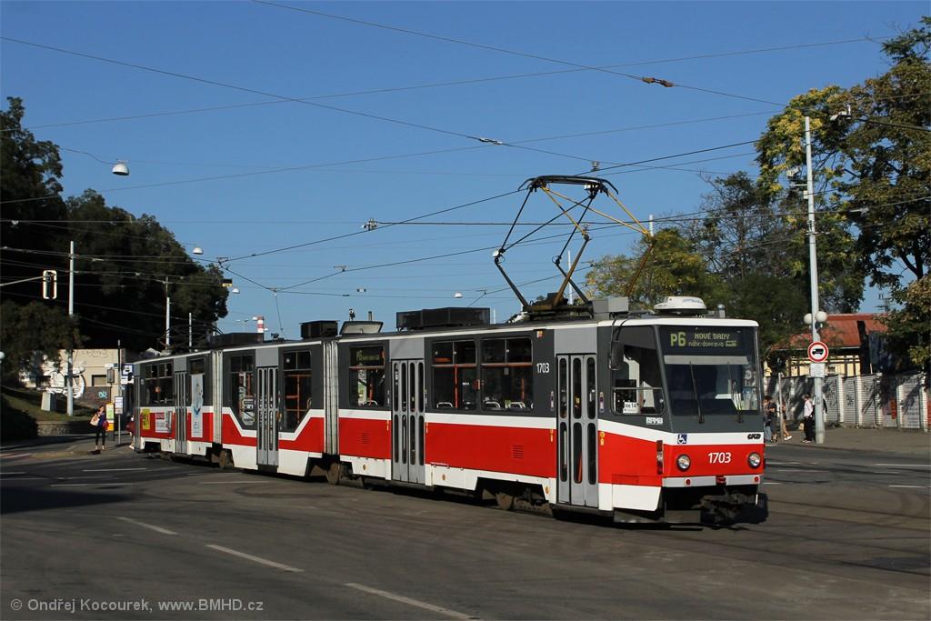 Fotogalerie » ČKD Tatra KT8D5R.N2 1703 | Brno | střed | Nové sady