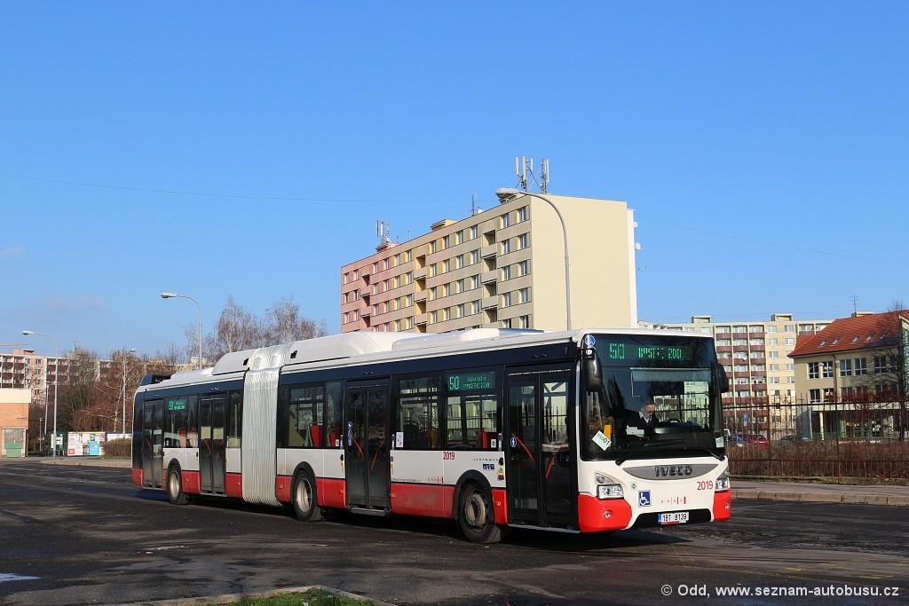 Fotogalerie » Iveco Urbanway 18M CNG 1BT 8139 2019 | Brno | Komárov | Hodonínská | Mariánské náměstí