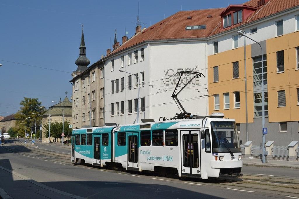 Fotogalerie » ČKD Tatra K2R 1028 | Brno | Zábrdovice | Zábrdovická