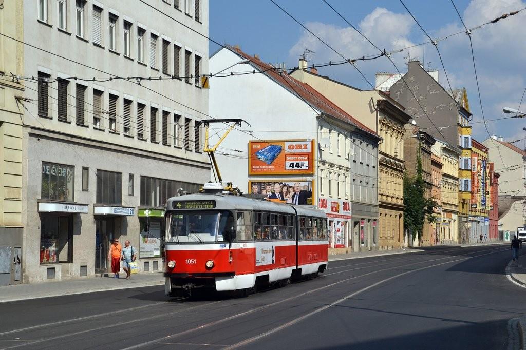 Fotogalerie » ČKD Tatra K2P 1051 | Brno | střed | Cejl