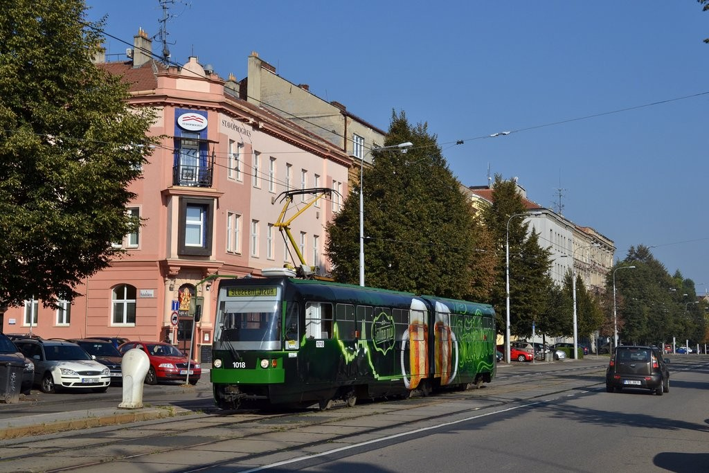 Fotogalerie » ČKD Tatra K2R-RT 1018   Brno   Ponava   Štefánikova   Hrnčířská