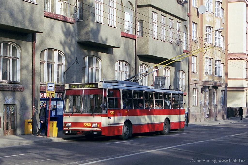 Fotogalerie » Škoda 14Tr14 3260 | Brno | Veveří | Kotlářská | Konečného náměstí
