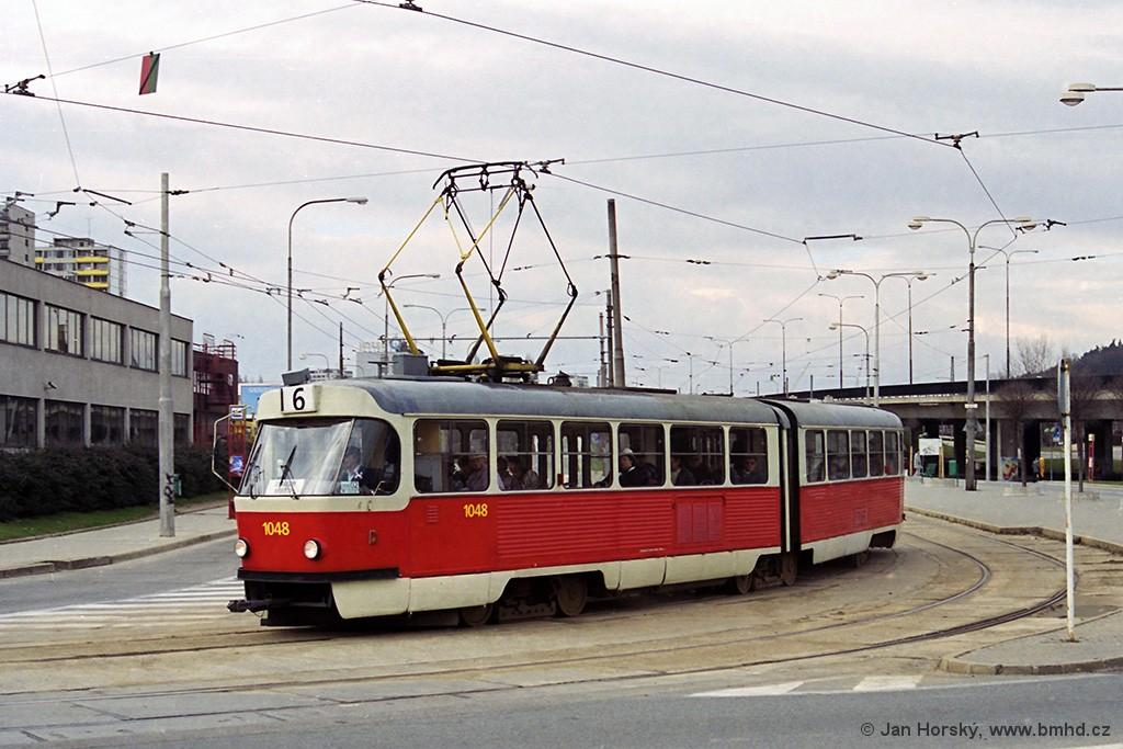 Fotogalerie » ČKD Tatra K2 1048 | Brno | Královo Pole | Budovcova | Královo Pole, nádraží