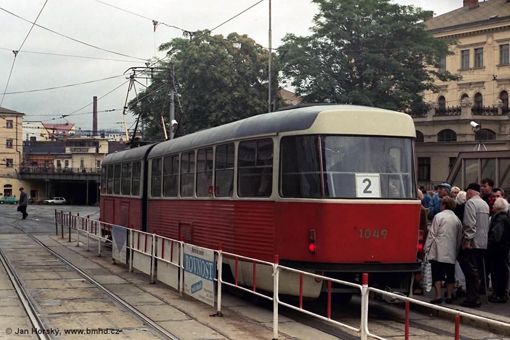 Fotogalerie » ČKD Tatra K2 1049 | Brno | střed | Nádražní | Hlavní nádraží