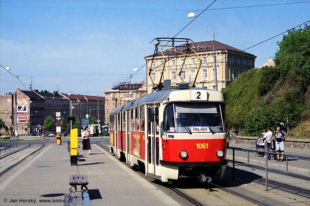 Fotogalerie » ČKD Tatra K2 1061   Brno   střed   Nádražní   Nové sady