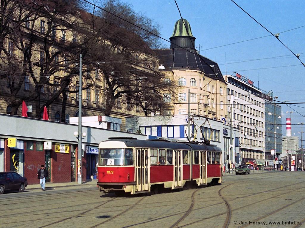Fotogalerie » ČKD Tatra K2 1073 | Brno | střed | Nádražní