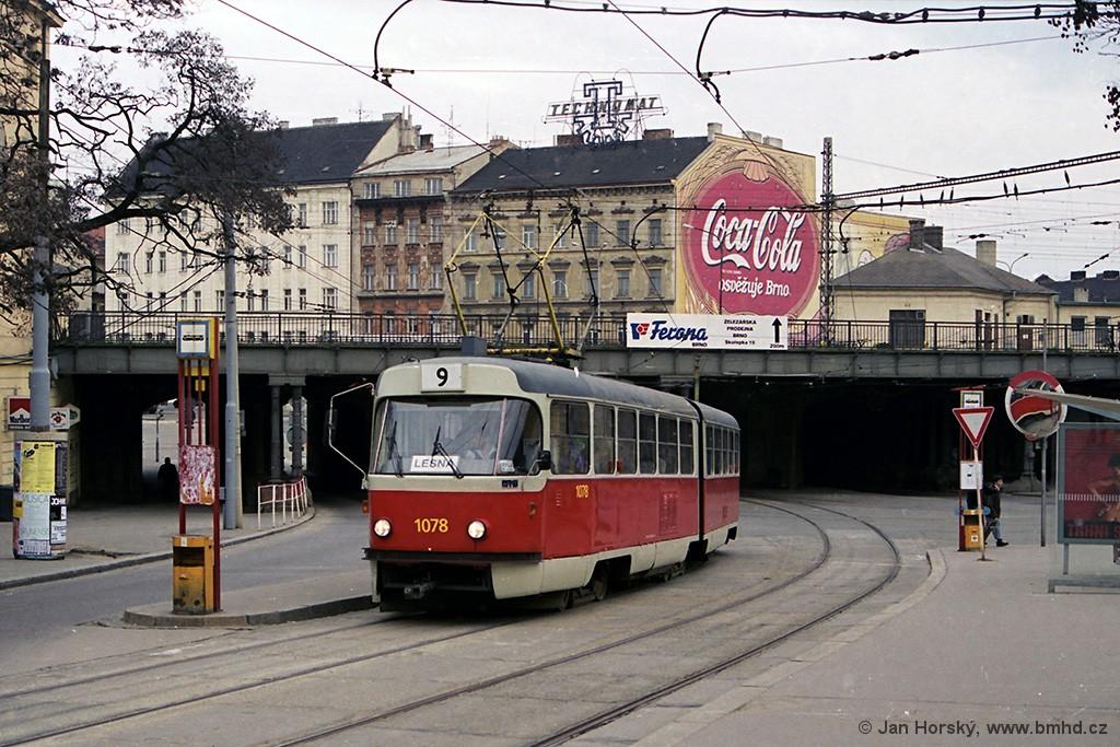 Fotogalerie » ČKD Tatra K2 1078 | Brno | střed | Hlavní nádraží