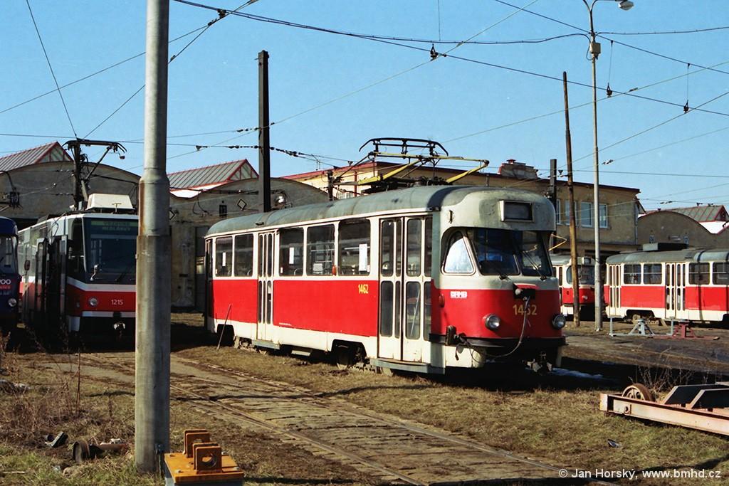 Fotogalerie » Tatra T2R 1462 | Brno | Medlánky | Vozovna Medlánky