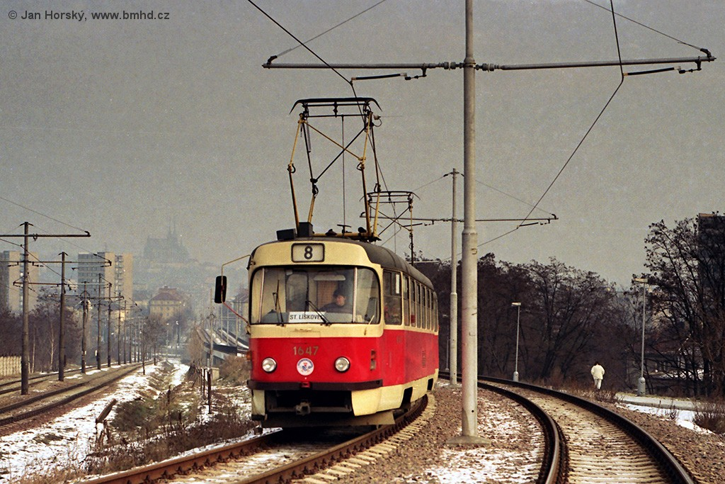 Fotogalerie » ČKD Tatra T3SUCS 1647 | Brno | Štýřice