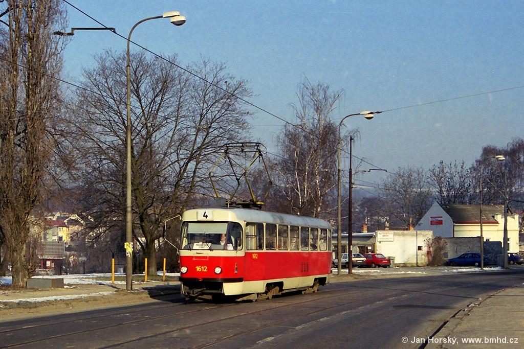 Fotogalerie » ČKD Tatra T3G 1612   Brno   Maloměřice   Obřanská   Čtvery hony