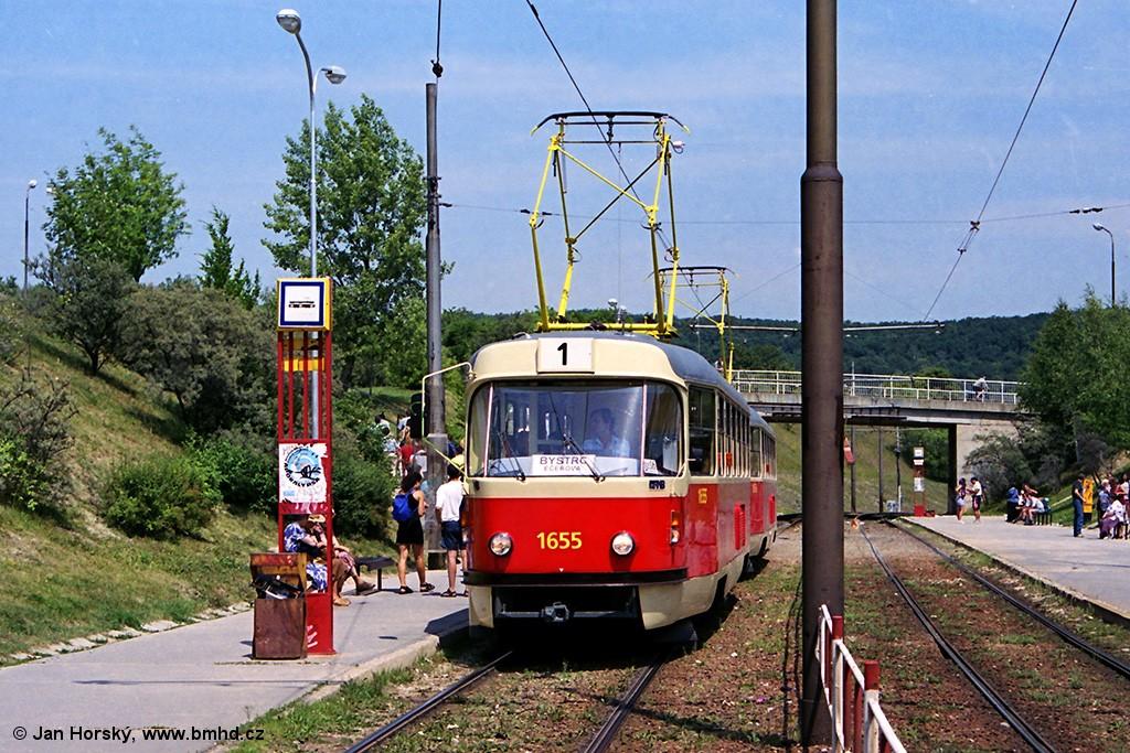 Fotogalerie » ČKD Tatra T3 1655   ČKD Tatra T3 1656   Brno   Bystrc   Přístaviště