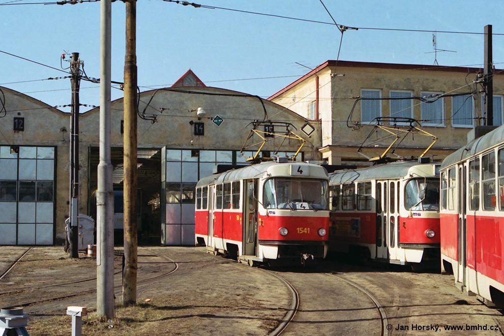 Fotogalerie » ČKD Tatra T3M 1541 | Brno | Medlánky | Vozovna Medlánky