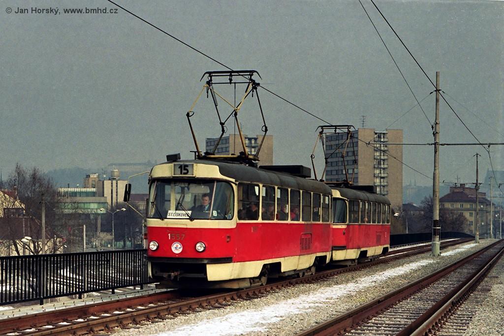 Fotogalerie » ČKD Tatra T3M 1557 | Brno | Štýřice | Renneská